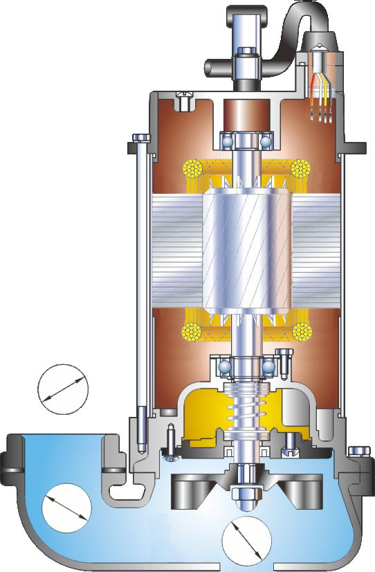 sv-type-showfou-submersible-vortex-sewage-pump-sketch-drawing